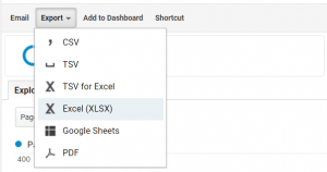 Google Analytics export maken
